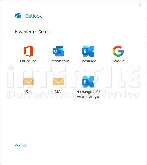 Microsoft Outlook 2019 Mail POP oder IMAP